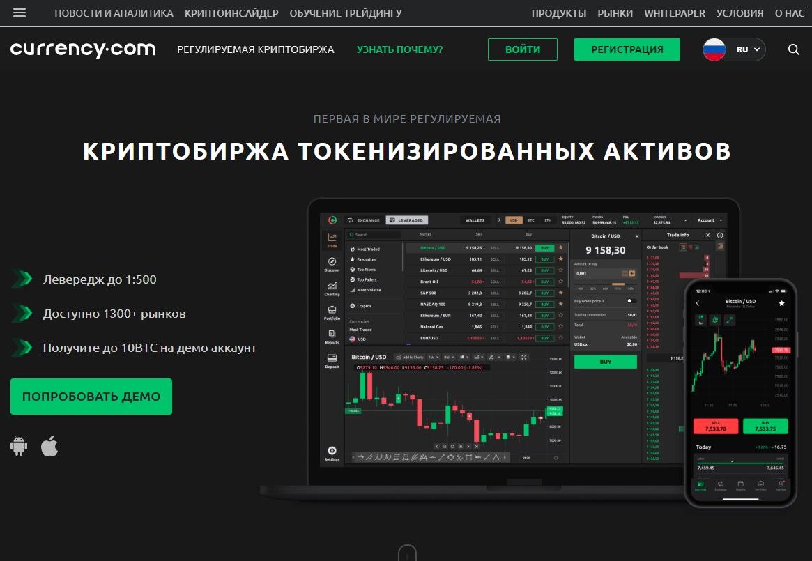 Currency.com обзор